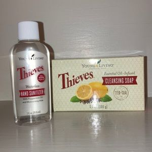 Thieves cleansing soap & waterless hand sanitizer